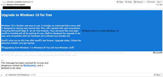 Windows 10 email